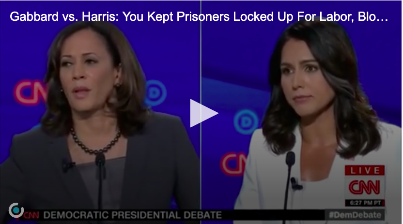 Sen  Kamala Harris Takedown by Rep  Tulsi Gabbard at Dem