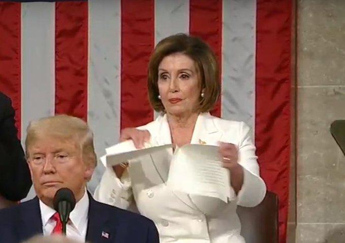 House Speaker Nancy Pelosi Tears Apart President's State of the Union  Speech - California Globe